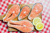 stock photo of salmon steak  - Salmon - JPG