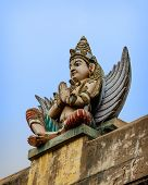 picture of tamil  - Detail  of indian Brihadeshwara Temple - JPG