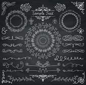 image of divider  - Decorative Vintage Chalk Drawing Doodle Design Elements - JPG
