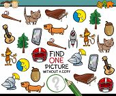 Постер, плакат: Find Single Picture Game Cartoon