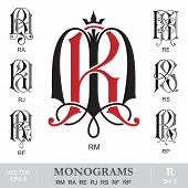 pic of initials  - Vintage monogram set - JPG