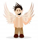 picture of hells angels  - Illustrations of little boy with angel wings - JPG
