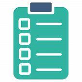 foto of tasks  - Test task icon from Business Bicolor Set - JPG