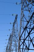 image of power transmission lines  - supports of high - JPG