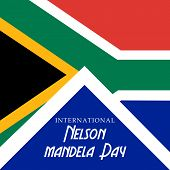 picture of nelson mandela  - Creative a beautiful greeting card for International Nelson Mandela Day - JPG