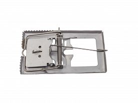 foto of mouse trap  - Mouse trap isolated on a white background with clipping path - JPG