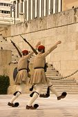 pic of evzon  - Ceremonial changing the guard at the Parliament Building in Athens Greece -
