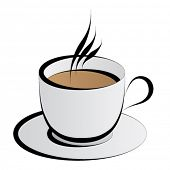 image of cup coffee  - vector coffee cup - JPG