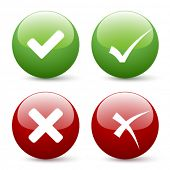 picture of check mark  - vector check mark buttons - JPG