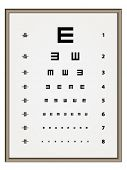 stock photo of snellen chart  - vector Snellen eye test chart - JPG