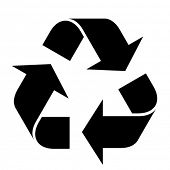 pic of reuse  - vector recycle symbol - JPG