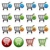 image of cart  - vector add delete shopping cart item - JPG