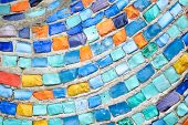 Texture Mosaic Tiles  Colorful Wave Background poster