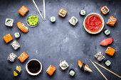 Постер, плакат: Japanese Sushi Background
