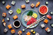 Japanese Sushi And Sashimi poster