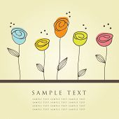 image of greeting card design  - Floral card - JPG