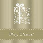 Постер, плакат: Рождество box Векторная карта