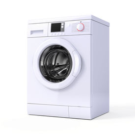 picture of washing-machine  - Washing machine isolated over white  - JPG