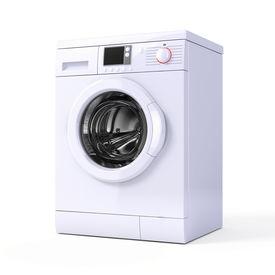 picture of washing machine  - Washing machine isolated over white  - JPG