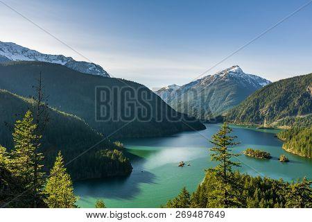 Beautiful Diablo Lake In The