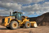 stock photo of heavy equipment  - The heavy building bulldozer - JPG