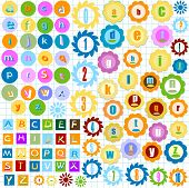 picture of nouns  - very colorful alphabet for kids abstract background - JPG