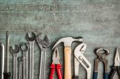Set of tools. Hand tools for craftsmen. poster