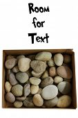 Box of Rocks. Bad Boys and Girls get a Box of Rocks for Christmas. Isolated on white. Room for text. poster