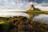 foto of galway  - Dunguaire castle at sunset - JPG