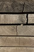 Stacked Wooden Boards, Wooden Boards, Natural Wood Board poster