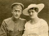 Постер, плакат: Винтаж Свадебные фото во время первой мировой войны