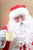 Santa Claus. A nice Santa Claus Portrait. Santa poses for his annual Christmas Holiday Portrait. Sig poster
