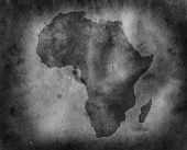 picture of north sudan  - Grungy Africa map - JPG