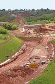 New Road Bypass Construction Site In Devon poster