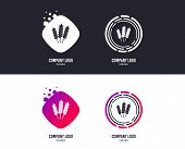 Logotype Concept. Agricultural Sign Icon. Gluten Free Or No Gluten Symbol. Logo Design. Colorful But poster