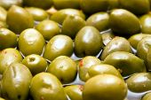 Green spicy olives poster