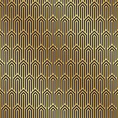 Seamless Black And Gold Art Deco Pattern Background. Art Deco Background Wallpaper. poster