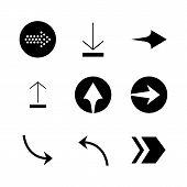 Set Of Black Vector Arrows. Arrow Icon. Arrow Vector Icon. Arrow. Arrows Vector Collection poster