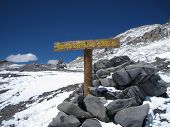 pic of aconcagua  - Nido de Condores camp above Plaza De Mulas Base Camp Aconcagua - JPG
