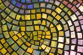 pic of stepping stones  - a mosaic design of many hues of color - JPG