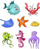 picture of blubber  - vector illustration of a cute  underwater set - JPG