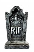 picture of headstones  - Isolated RIP gravestone used as decoration for halloween - JPG