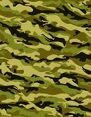 stock photo of conscript  - Khaki camouflage pattern with rough fabric texture - JPG