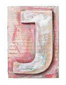 pic of letter j  - Wooden alphabet block - JPG