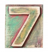 pic of number 7  - Wooden alphabet block - JPG
