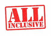 stock photo of all-inclusive  - ALL INCLUSIVE Rubber stamp over a white background - JPG