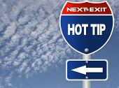 Hot tip road sign