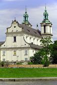 stock photo of stanislaus church  - view on skalka church in cracow in poland - JPG