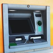 picture of automatic teller machine  - atm machine bank cash banking finance money business card credit automatic  technology - JPG