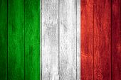 foto of italian flag  - Italy flag or white or red green white and red Italian banner on wooden background - JPG